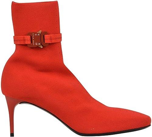 ALYX Damen AAWDO0002A33 Rot Stoff Stiefeletten