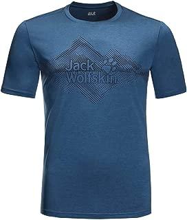 Jack Wolfskin Mens Crosstrail Graphic T-Shirt - Indigo Blue - M