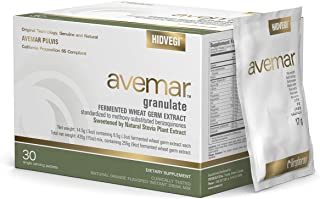 Authentic Avemar™ Natural Stevia Granulate - Fermented Wheat Germ Extract, Daily Immune System and Cell Support, Natural Instant Drink Mix, 30 Sachets…