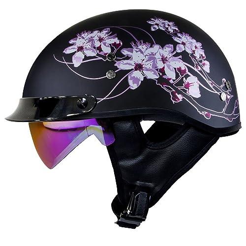 Women S Motorcycle Half Helmet Amazon Com