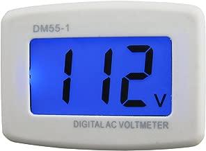 Yeeco AC 80-199V Wall Flat US Plug LCD Digital Voltmeter Volt Panel Meter Voltage Tester Gauge 110V Voltage Measuring Monitor volt Monitoring Measure Measurement Household voltage tester