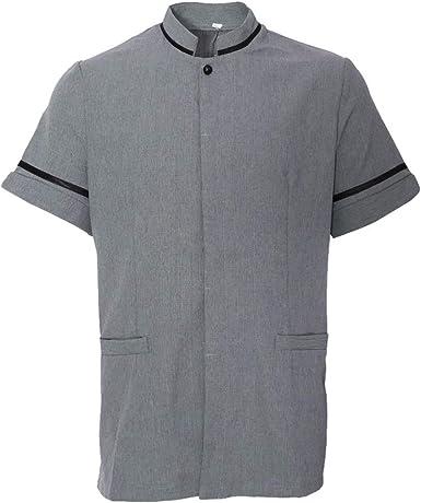 IPOTCH Chaqueta de Cocinero Uniforme de Camarero Camiseta de ...