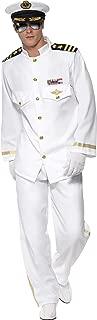 Smiffys Men's Captain Deluxe Costume, White