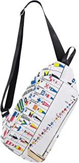 Crossbody bags Songs And Sails Mens Shoulder Bag Casual Lightweight Chest Backpack for Travel Hiking
