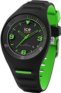Ice-Watch - P. Leclercq Black Green - Montre Noire pour Homme avec Bracelet en Silicone - 017599 (Medium)