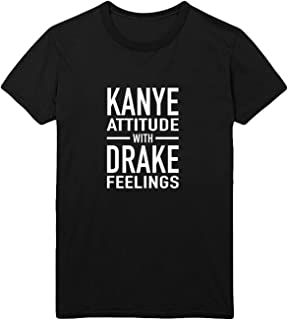 Kanye Attitude Drake Feelings Men Men's T-Shirt 100% Cotton Black Shirt Mens