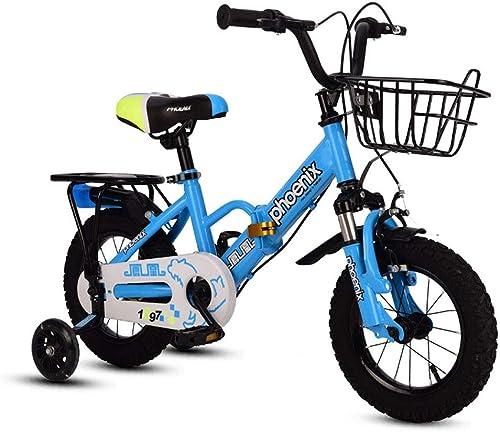 venta de ofertas Bicicleta para Niños 2-3-5-6-8 años Cochecito De Bebé Shock 12 12 12 14 16 18 Pulgadas Bicicleta para Niños Plegable - con Asiento Trasero, Cesta Y Rueda Auxiliar  a la venta