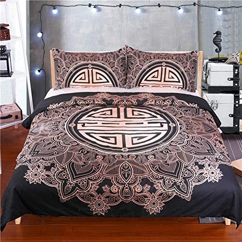 Bedclothes-Blanket Funda de edredón, Cubierta de Luna y lecho Estrella, Que Incluyen: Cubierta de edredón Extra Grande y Fundas de Almohadas 2X-8_228 * 264cm