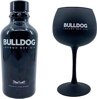 Bulldog Gin Paket mit mattschwarzem Gin Copa Glas Geschenkpaket mit Gin & Tonic Ballonglas