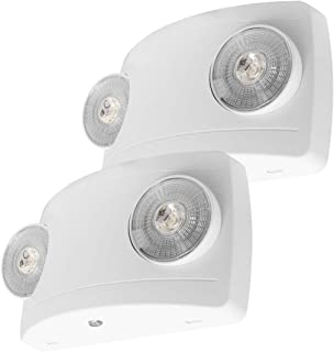 LFI Lights - UL Certified - 2 Pack - Hardwired LED Emergency Light - Super Compact - ELCW2x2