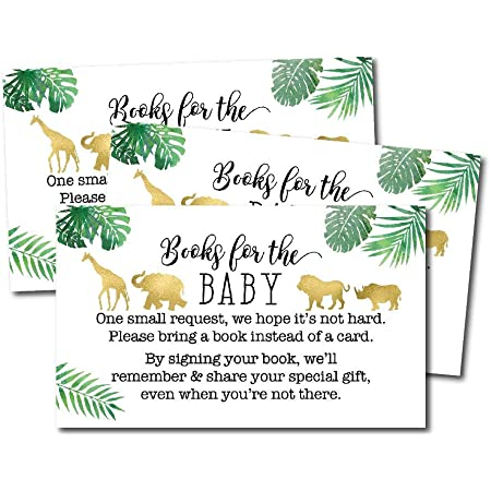 Baby Shower Book Request Hadley Design Jungle Baby Shower Book Request Template Edit Yourself DIY Baby Shower Games Printable