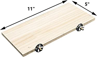 GNB PET Natural Wood Stand Platform 5''x11'' for Hamster Mice Chinchilla Chipmunk, Small Animals Habitat Toy HM-10