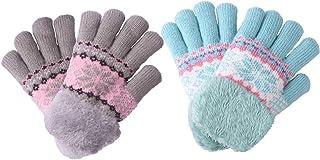 2Pairs Children's Kids Boy Girls Teens Cold Whether Gloves Mittens