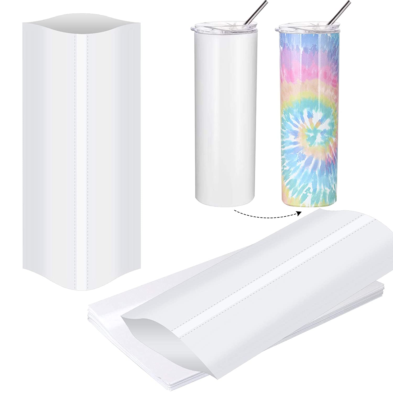 5x10 Inch Sublimation Shrink Wrap Sleeves, 120Pcs White Sublimat