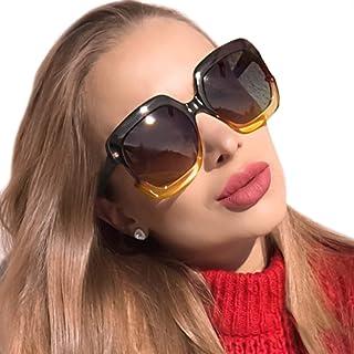 862a4ee095 MuJaJa Gafas de Sol de mujer Polarizadas, Marco Grande Cuadrado Moda para  Conducir Esquí Pesca