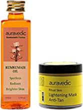 Auravedic 2 Steps Kumkumadi Oil & Lightening Mask For Lighter Brighter Skin