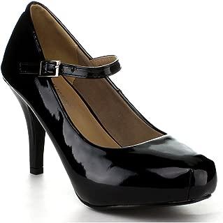 Cyndi-91 Women's Hot Fashion Ankle Strap Mary Jane Dress Pumps Shoes