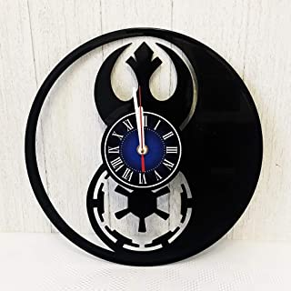 Star Wars Rebel Alliance (Resistance) vs Empire Wall Clock Made from 12 inches / 30 cm Vintage Vinyl Record | Star Wars Gift for Men Boys Husband | Star Wars Rebels Clock | Star Wars Merchandise |