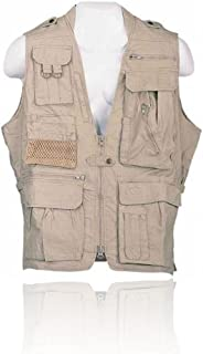 Humvee Photo Safari Vest, Khaki, L HMV-VS-K-L by CampCo
