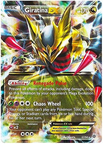 Pokemon Trading Card - Giratina Ex 57/98 XY Ancient Origins Set - Rare