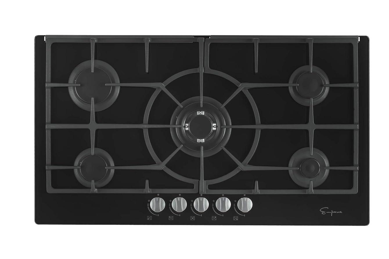 Empava EMPV-36GC5L90I 5 Italy Sabaf Burners Gas Stove Top Cooktop 36 Inch