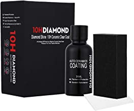Hocossy 10H Nano Super Ceramic Coating Hydrophobic for Cars-High Gloss Ceramic Car Coating Car Care Kit 30ml-Anti Scratch,Protection Stains and UV Light-2019 Updated (10H)