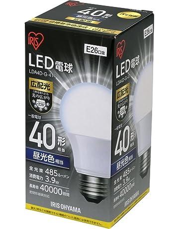 アイリスオーヤマ LED電球 口金直径26mm 30W・40W・60W形相当 広配