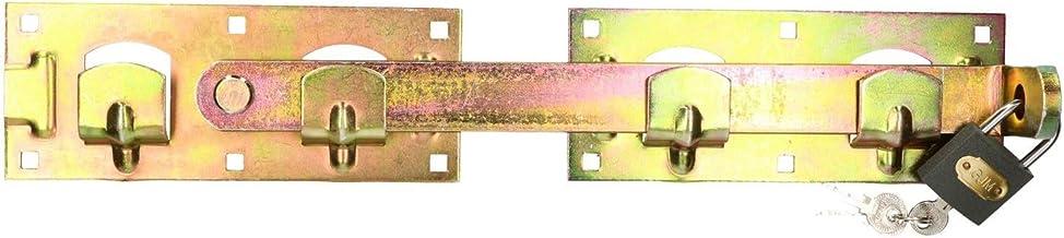 KOTARBAU® Dubbele poortloper links rechts met hangslot, tuinvergrendeling, poortsluiting, deurvergrendeling, deurvergrende...