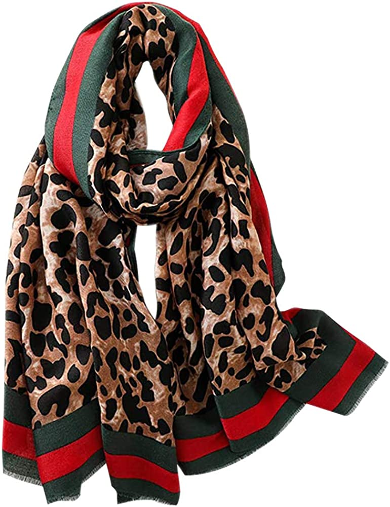 Women's Classic Leopard Printed Fashion Scarf Shawls Wraps Head Scarve
