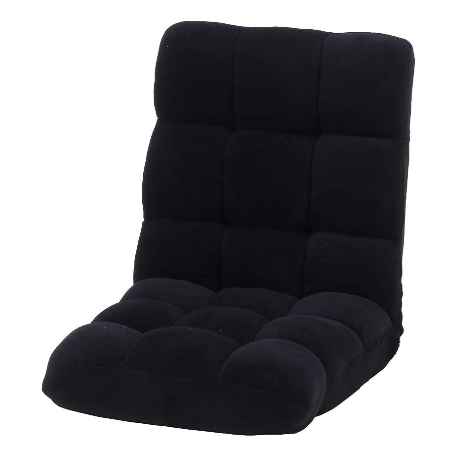 裏切り者ガラガラわかりやすい不二貿易 座椅子 幅42cm ブラック 42段階調整 軽量 ふわもこ 38147