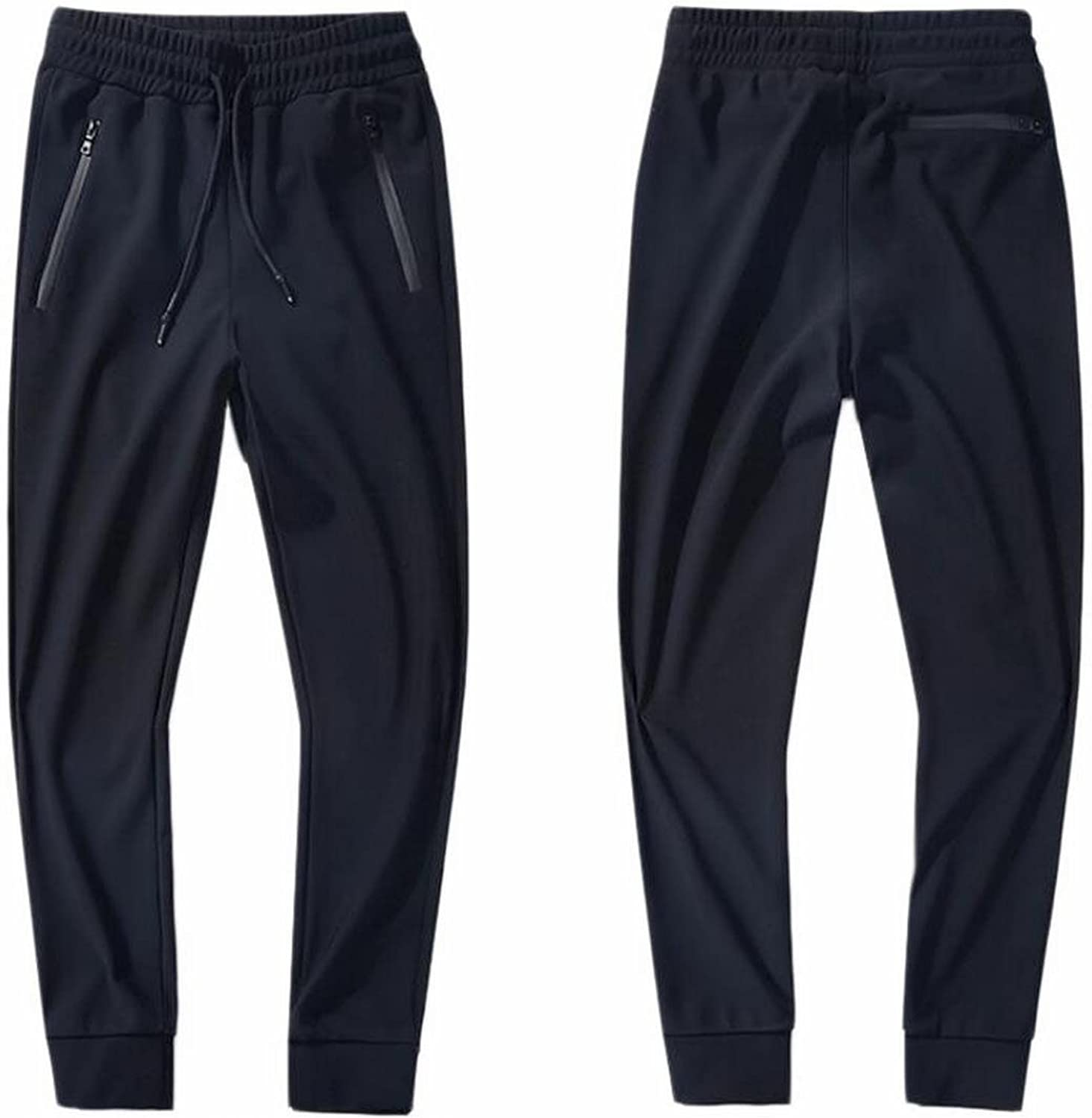 HTOOHTOOH Mens Casual Jogger Sweat Pants Cotton Active Elastic Waist Trousers