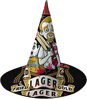 Shaun Of The Dead Winchester Fried Gold Lager Witch Hat Halloween Unisex Costume For Holiday Halloween Christmas Carnivals Party