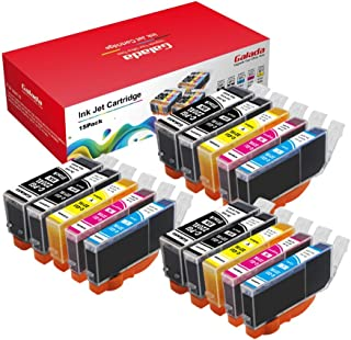 Galada Compatible Ink Cartridge Replacement for Canon PGI-220 PGI220 CLI-221 CLI221 for Canon MP540 MP550 MP560 MP620 MP630 MP640 MP980 MP990 IP3600 IP4600 IP4700 220/221 15pack