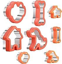 مجموعة قطاعة بسكويت على شكل عظمة للكلاب - تتضمن عظمة الكلب، طباعة مخالب، جرو وبيت كلب لأشكال قطع الكعك - قوالب قص بسكويت م...