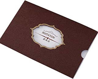 25 Pack Formal Invitation Cards for Birthday Dinner Party Business Greeting Cards, Coffee
