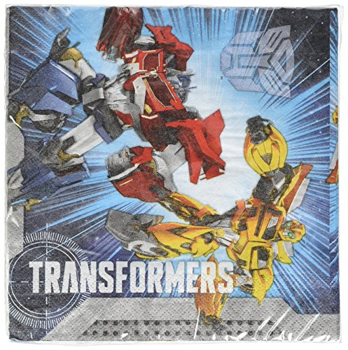 amscan - 997763 - 20 Serviettes Transformers - 33 x 33 cm
