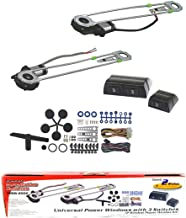 Pipeman's Installation Solution Universal 2 Door Electric Car Truck Power Window Conversion Kit Roll Up Switches