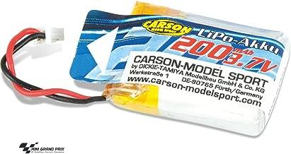 Carson 500608165 - Li-Po batería del helicóptero X4 Jaula de 3,7 V / 200 mAh, Accesorios