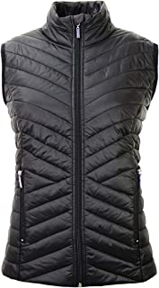 Tailory Fashion Women Vest Quilted Padding Zip Vest for Keeping Warm Black