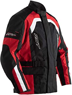 RST Alpha 4 CE Black Red Textile Motorcycle Jacket Size UK46,EU56,XL
