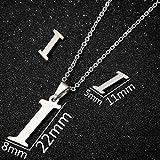Collar I - Pendientes de Alfabeto Personalizados de Acero Inoxidable con Letra Inicial pequeña Joyas para el día a día Damas de Honor