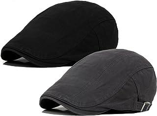 Qunson Men's Cotton Flat Ivy Gatsby Newsboy Driving Hat Cap