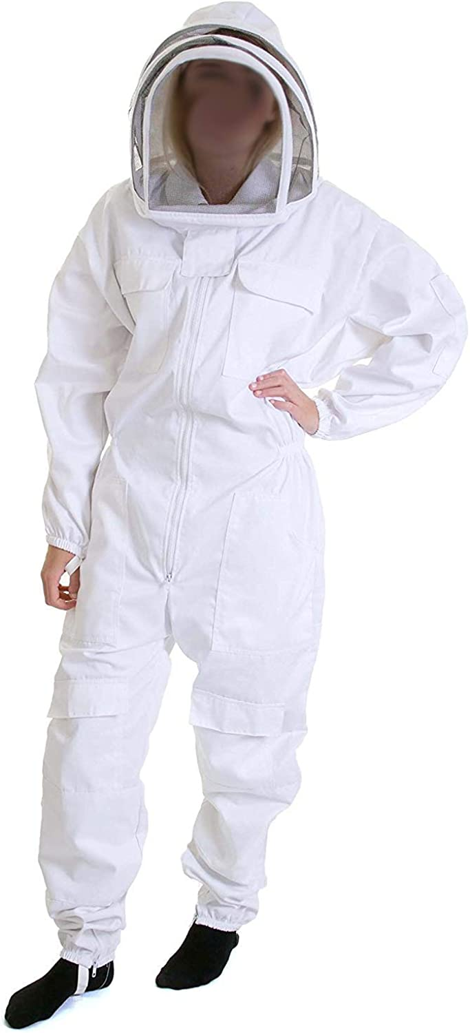 Bee Shirt Detachable Veil Suitable For Men And Women LXLXXL White,Beekeeping Suit Total Predection For Professional & Beginne,L
