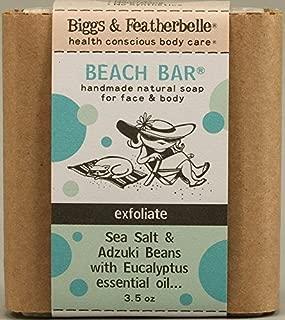 Biggs & Featherbelle - Beach Bar Handmade Natural Soap Sea Salt & Adzuki Beans with Eucalyptus Essential Oil - 3.5 oz. by Biggs and Featherbelle