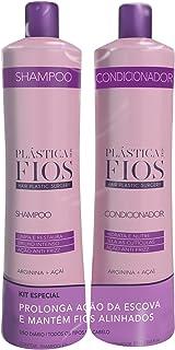 Cadiveu Plastica Dos Fios - Home Care - Shampoo and Conditioner Hair smoothing Backbar set for all hair types, Duo Set. (2...