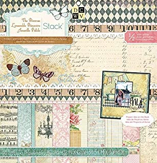 Die Cuts with A View Stack 12 x 12-Single-Sided-Primrose-Glitter-48 Seat PS-005-00289