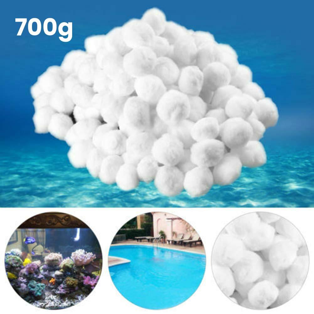xnbnsj Bolas de Filtro para Tanque de Peces, filtros de Arena para Piscina, filtros de Repuesto de nitrato para Bola de Pelo, 700G: Amazon.es: Jardín