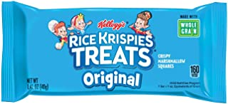 Kellogg's Rice Krispies Treats, Crispy Marshmallow Squares, Original, Made With Whole-Grain, Bulk Size (Pack of 80, 1.41 oz Bars)