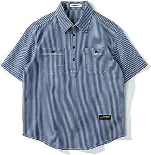 BaronHong Cotton Fashion Short Sleeve Skinny Striped Polo Shirt for Tomboy Trans Lesbian