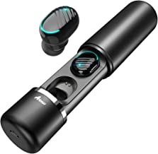 Bluetooth 5.0 True Wireless Earbuds, Aimus i11 Wireless Bluetooth Headphones IPX5 Automatic Connection 16H Playtime Hi-Fi Stereo with Built-in Mic and Charging Case (Black-Upgraded)